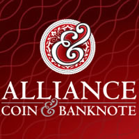 Almonte website for Alliance Coin & Banknote